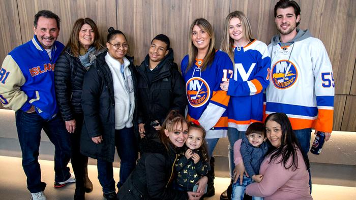 Starlight employees, families, and volunteers invited by the New York Islanders to watch them take on the Washington Capitals