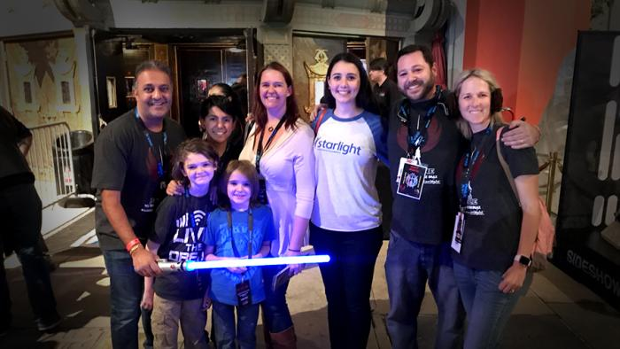 Star Wars Fans Lining up for Star Wars and fundraising for Starlight