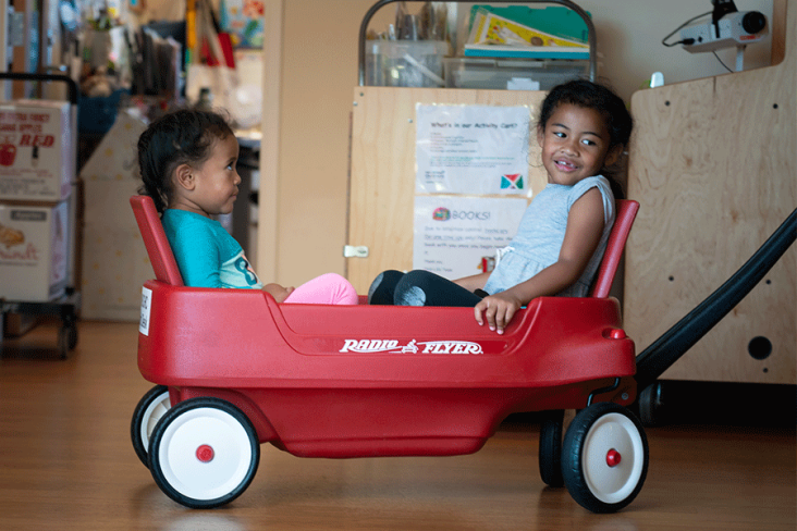 Delivery program photo of a Radio flyer wagon