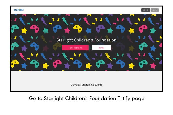 Go to Starlight Children's Foundation Tiltify page