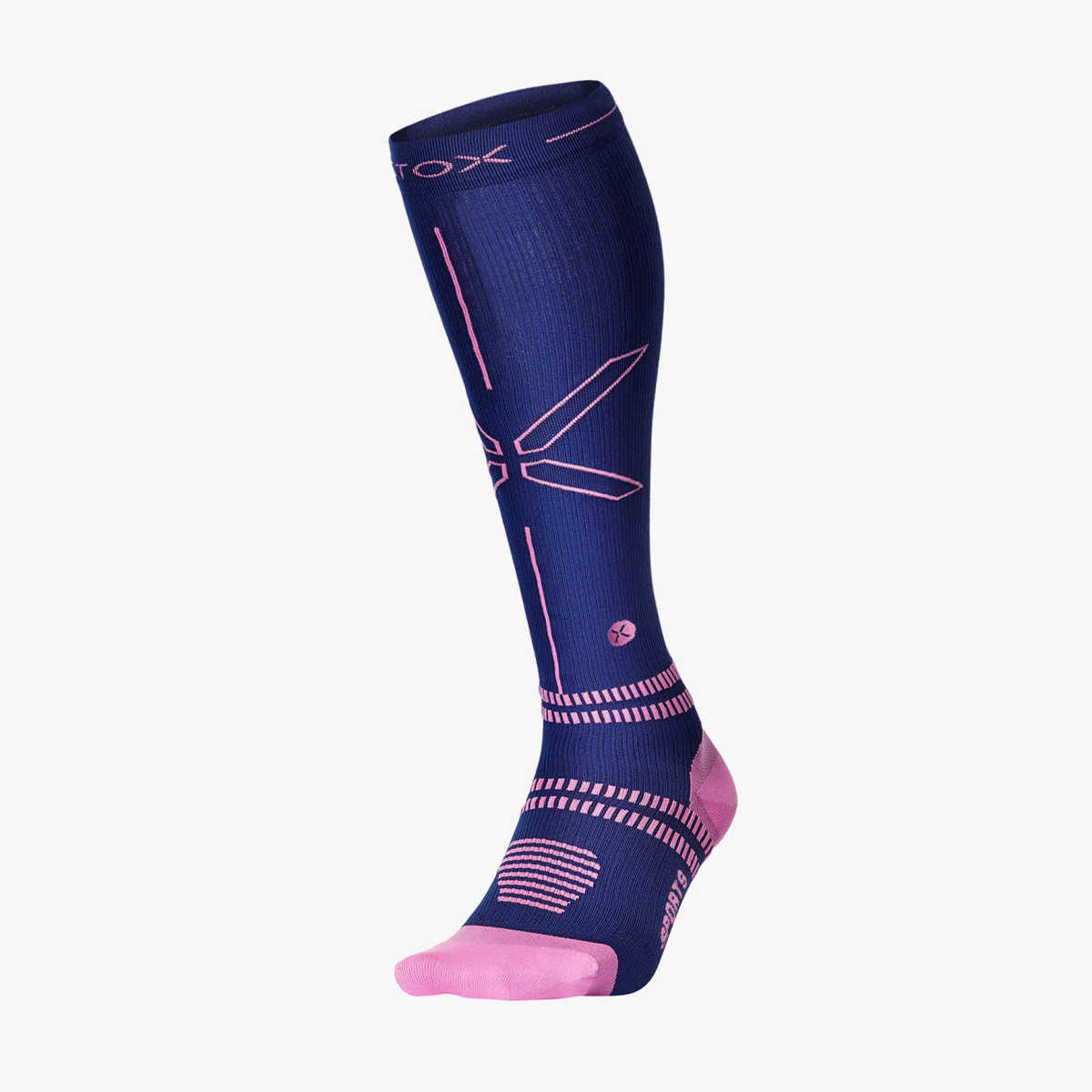 Sports Socks Women - Dark Blue Pink