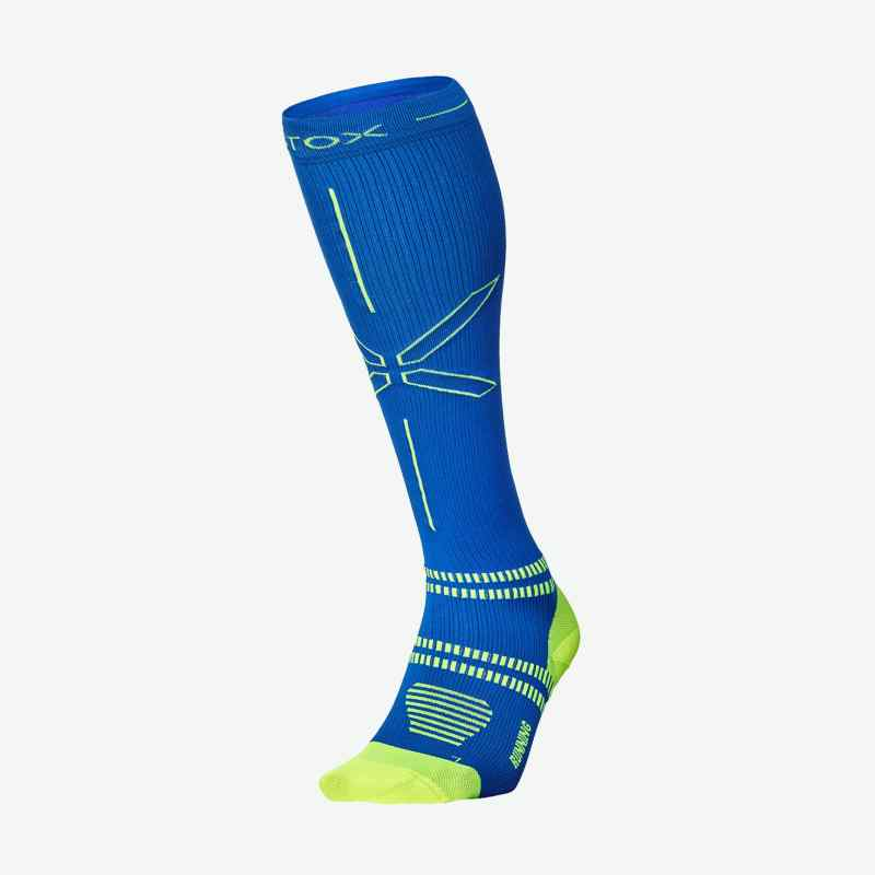 Running Socks Men - Blue / Yellow - F