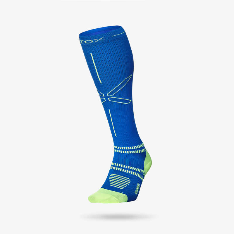 Running Socks Men - Blue Yellow 1