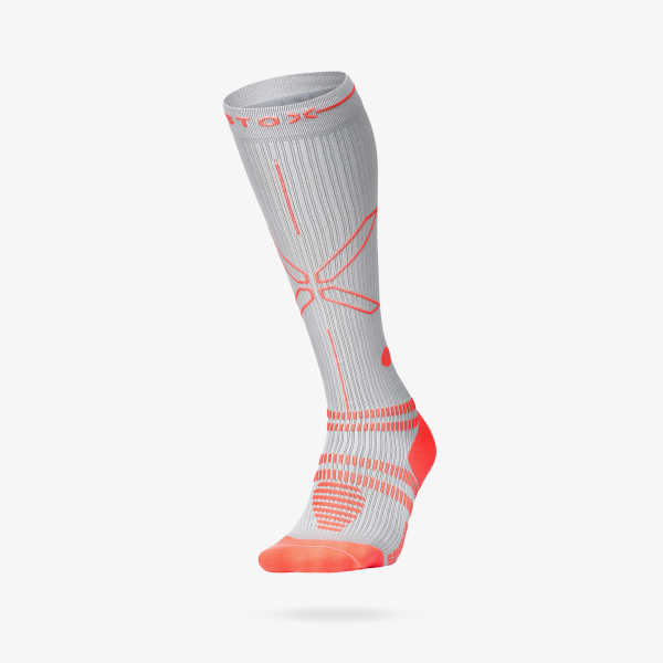 Sports Socks Women - Silver Red