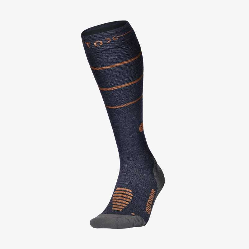 Outdoor Socks Men - Blue / Terra - F