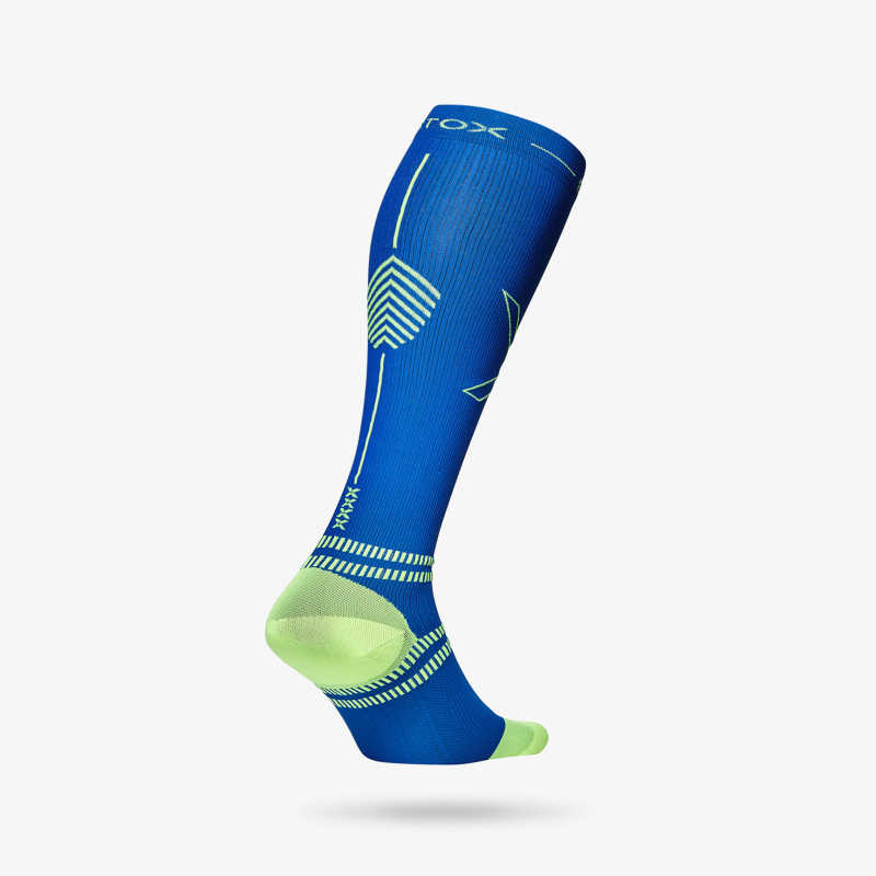 Running Socks Men - Blue Yellow