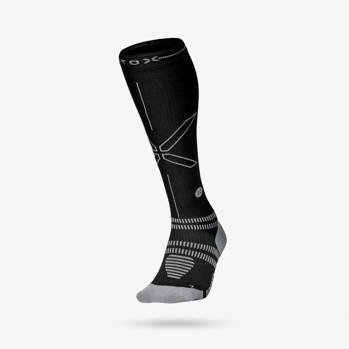 Running Socks Men - Black  Grey