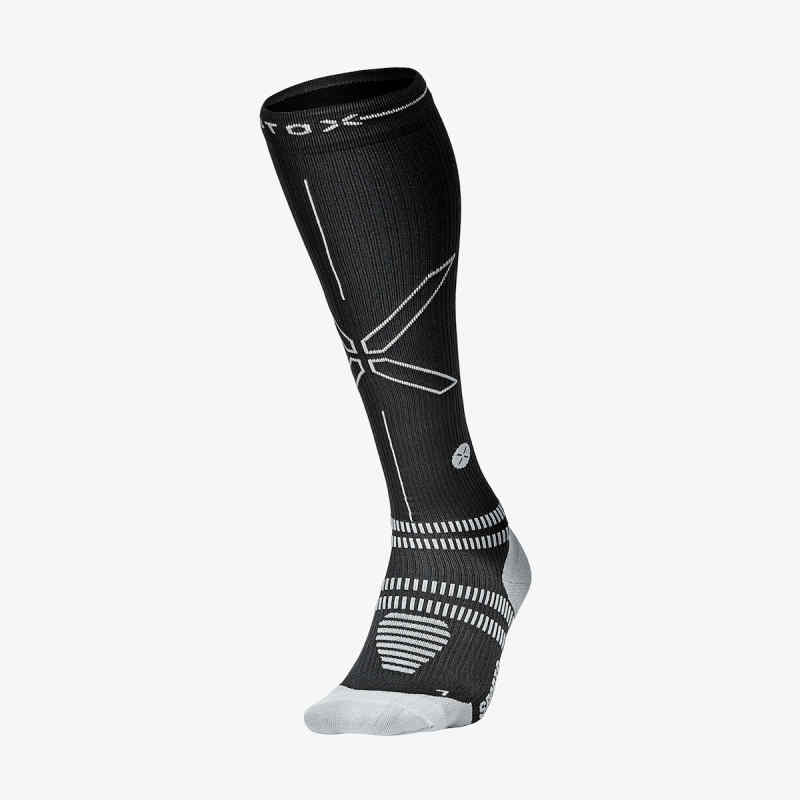 Sports Socks Women/Men - Black / Grey - F
