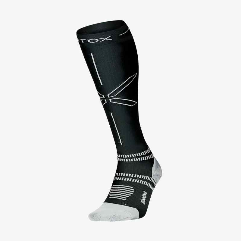 Running Socks Women - Black / Grey - F