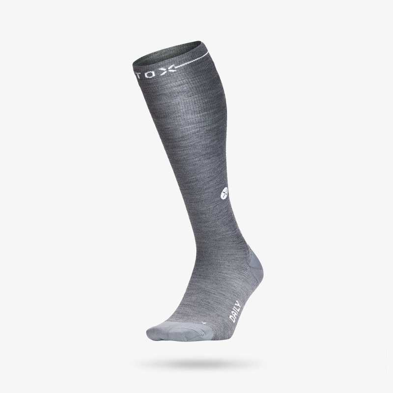 Daily Merino - Women - Silver grey / White - 1
