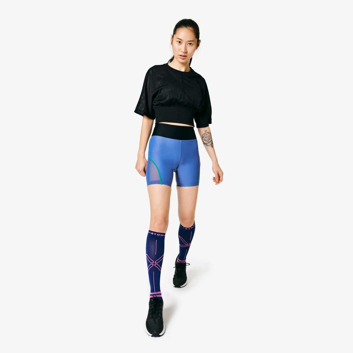 Sports Socks Women- Dark Blue Pink