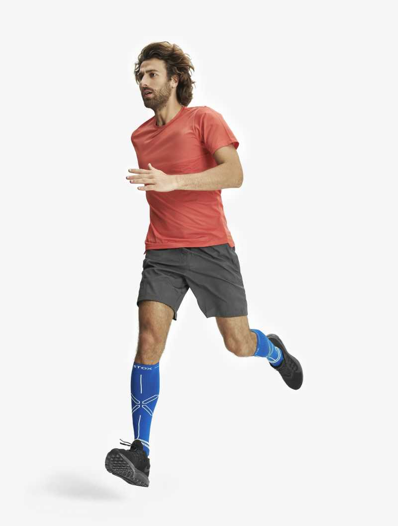 Running Socks Men - Blue / Yellow 2