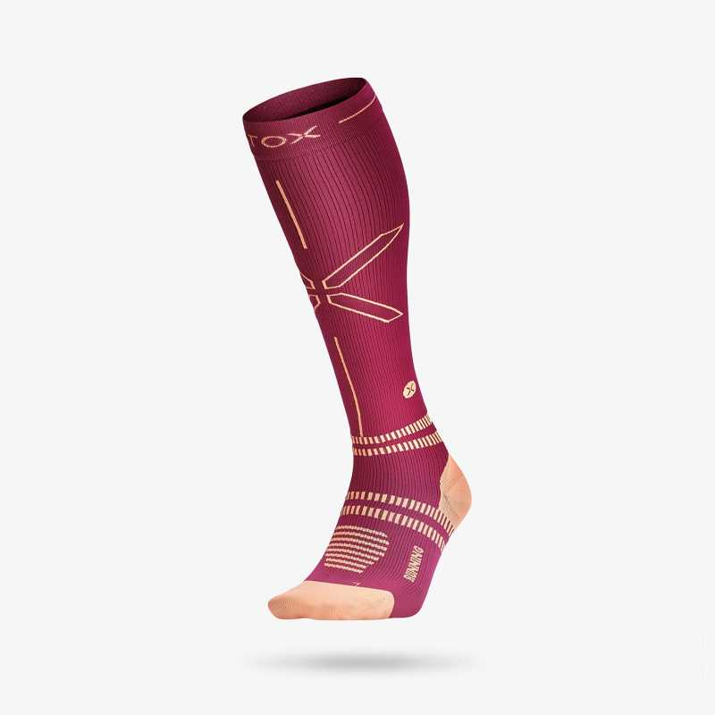 Running Socks Women - Fuchsia / Orange (1)