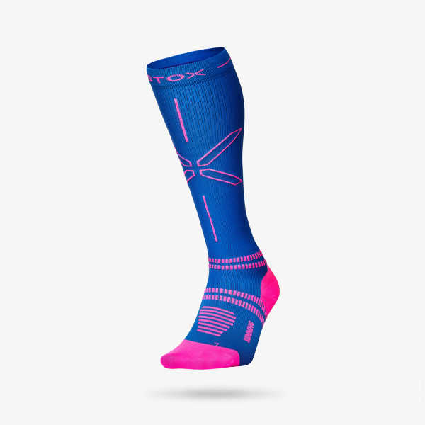 Running Socks Women - Blue Pink