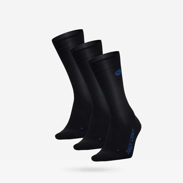 Daily Light Men Black / Blue - three pack