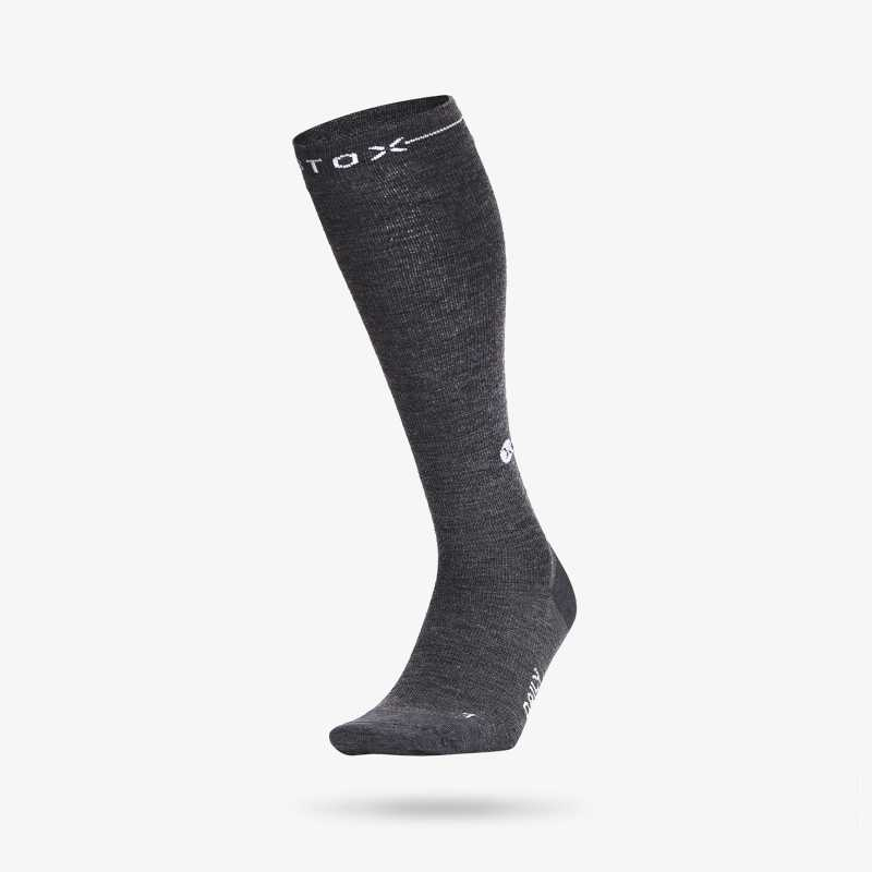 Daily Merino - Men - Dark grey / White - 1