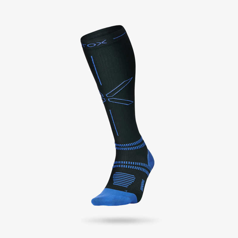 Running Socks Men - Black Blue