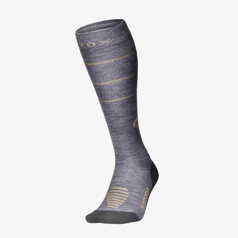 Outdoor Socks Women - Grey / Beige - F