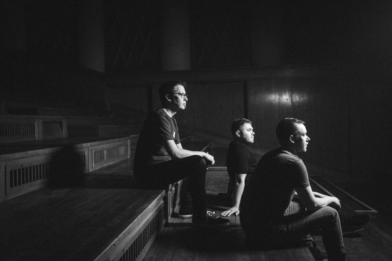 GoGo Penguin black and white photo