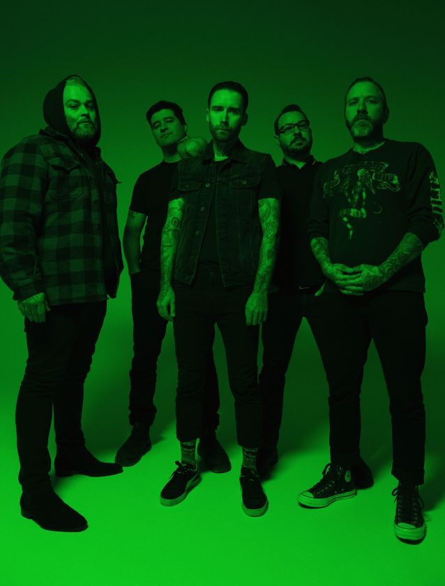 Alexisonfire with green filter