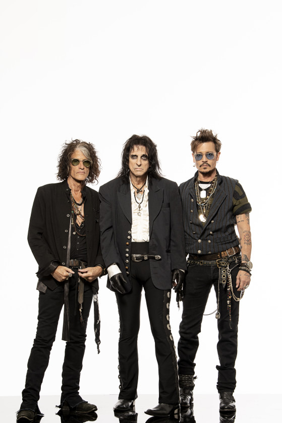 Hollywood Vampires band with white background