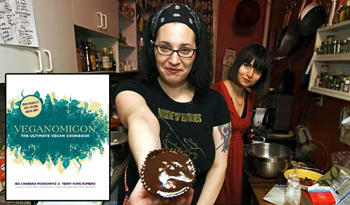 Isa Chandra Moskowitz holding a cupcake