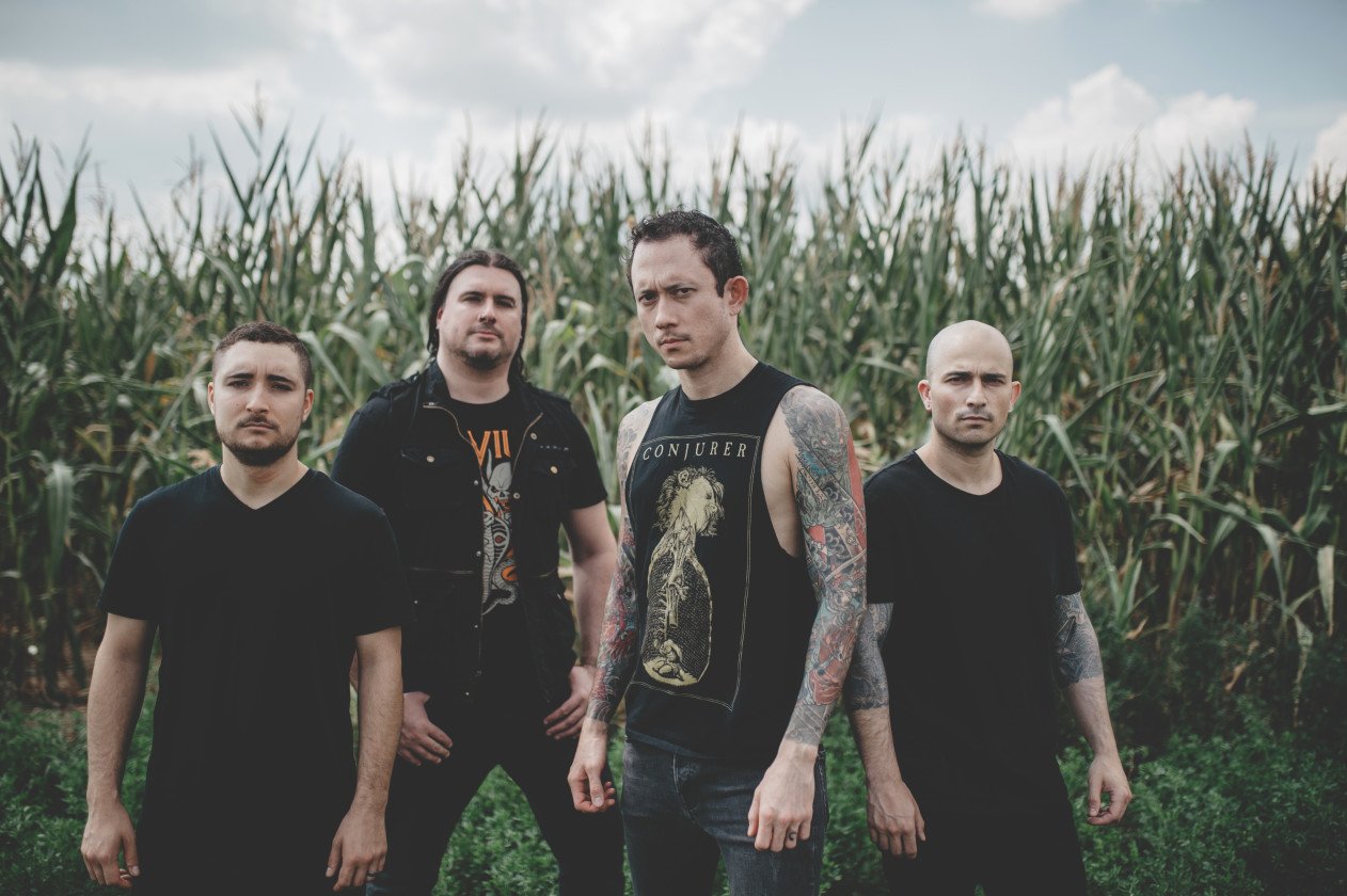 Trivium band portrait outside