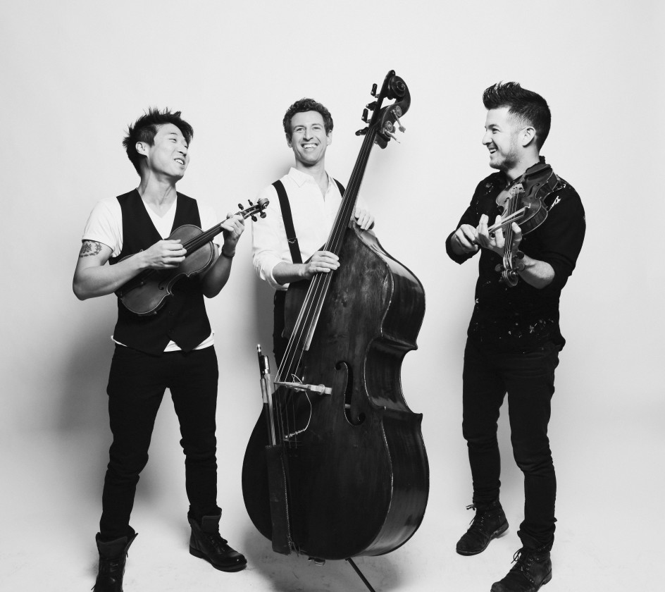 Time for Three black and white photo with instruments