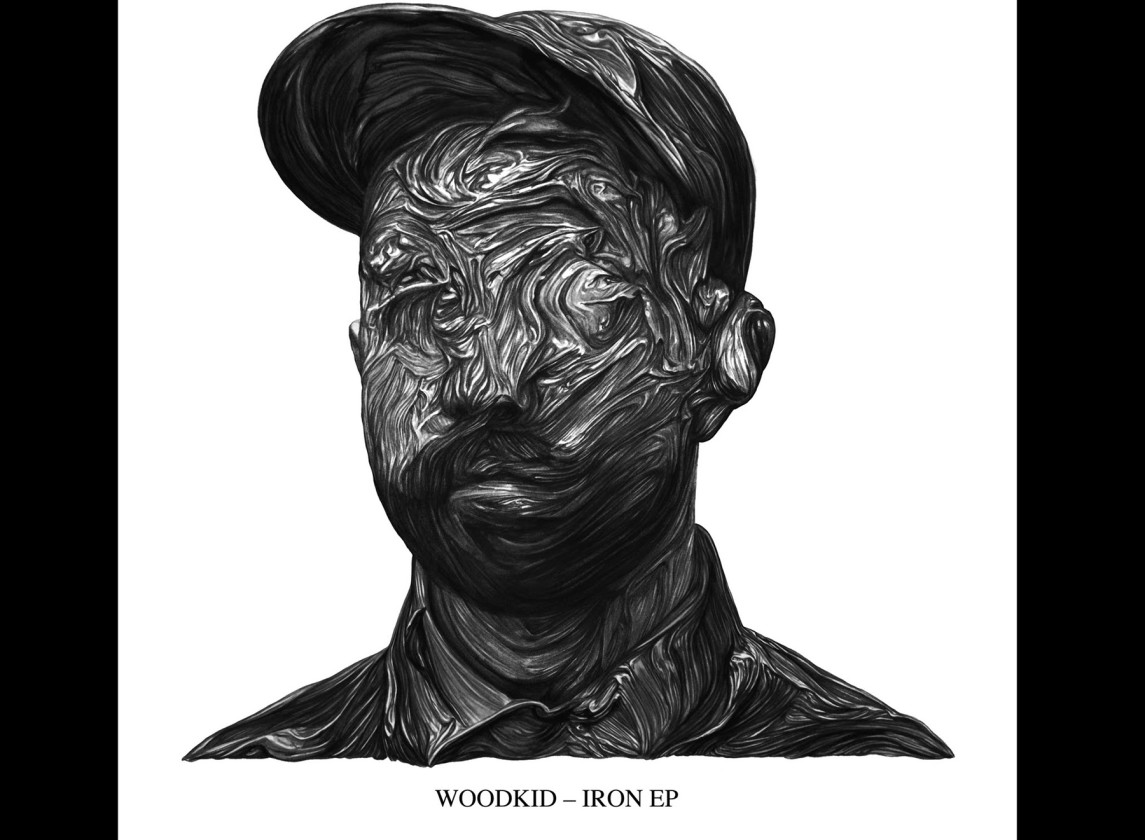 Woodkid portrait with wood face