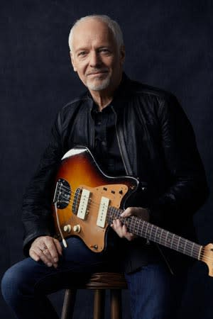 Peter Frampton portrait with guitar