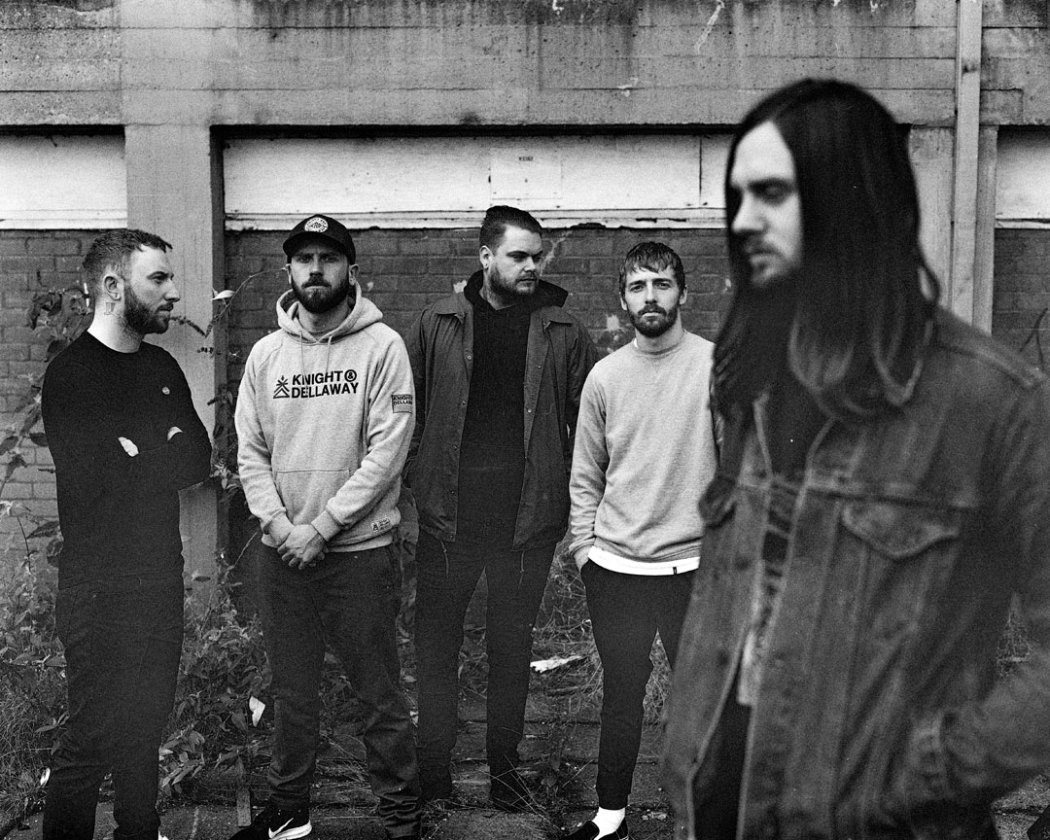 While She Sleeps black and white band photo