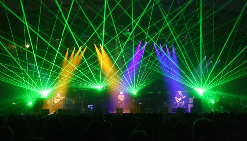 The Australian Pink Floyd Show on stage with multi-color lights