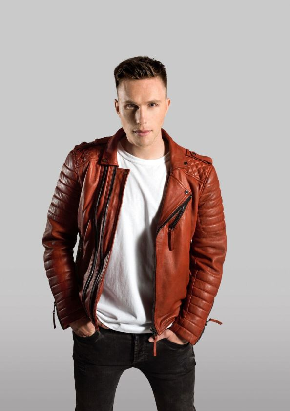 Nicky Romero photo in red leather jacket