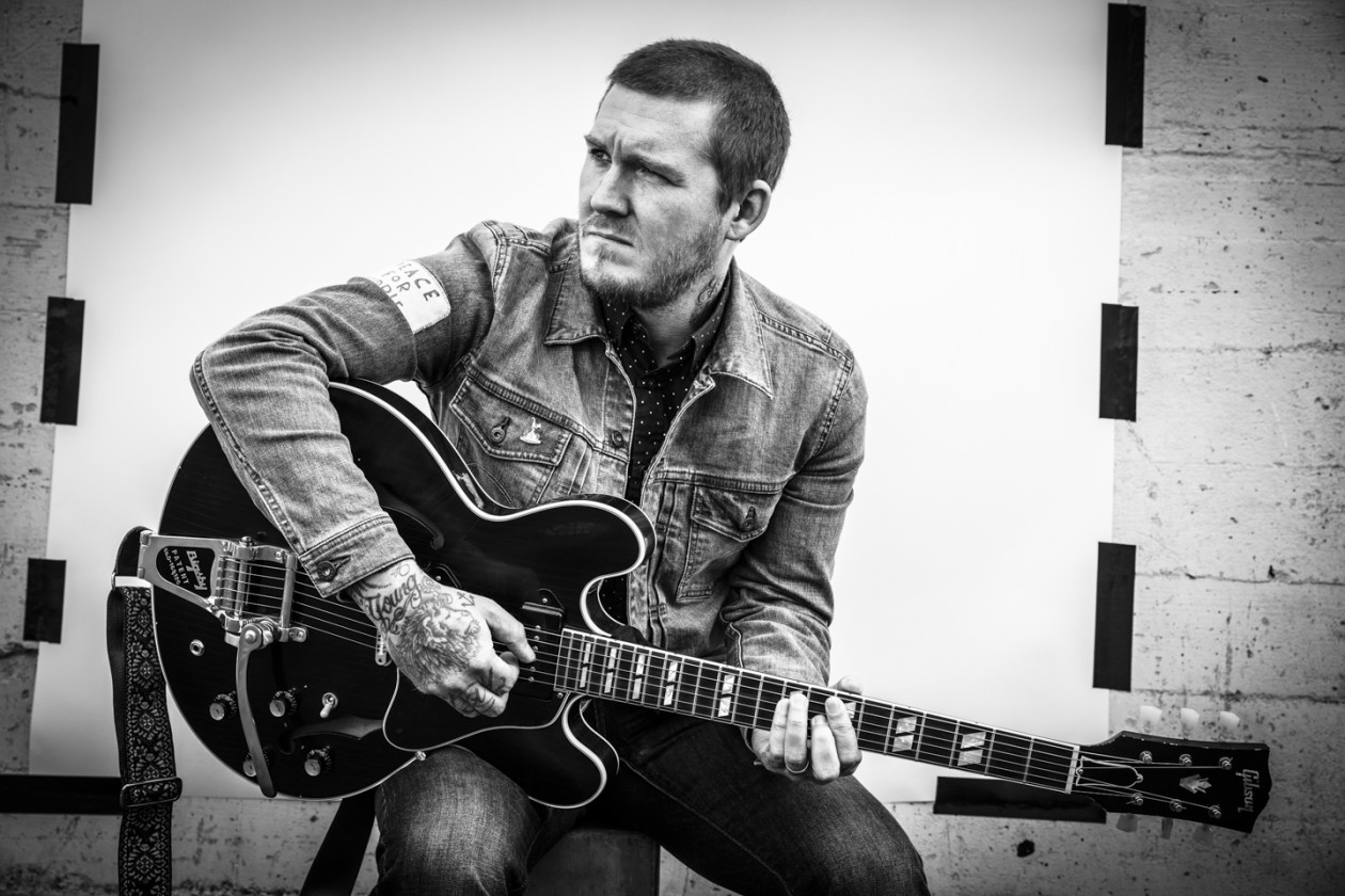 Brian Fallon black and white photo
