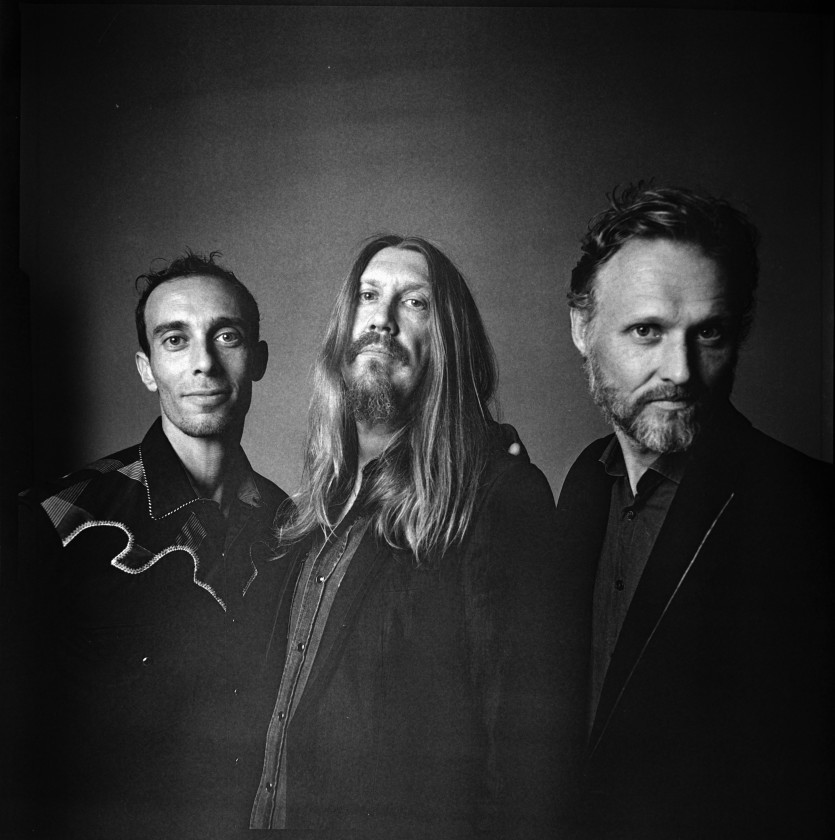 The Wood Brothers black and white photo