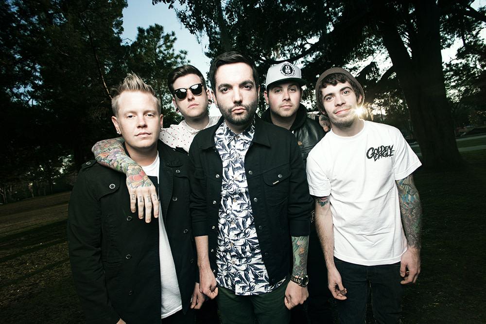 A Day To Remember band portrait outside