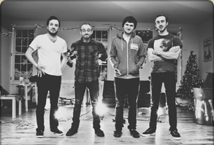 The Menzingers black and white band photo