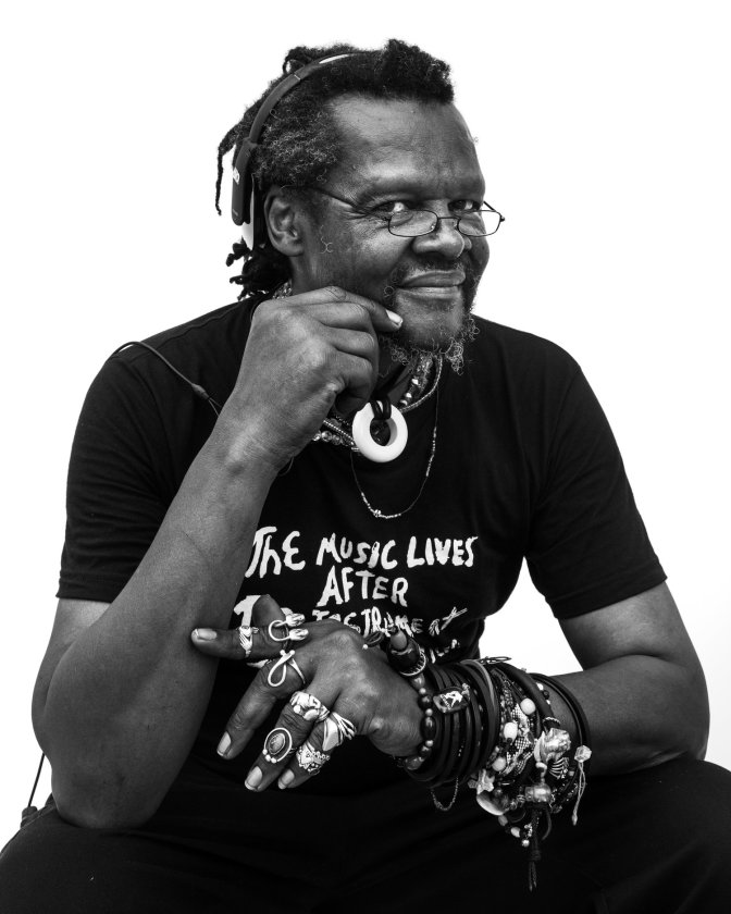 Lonnie Holley black and white photo