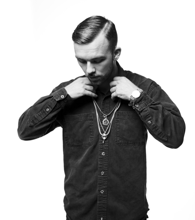SonReal black and white portrait