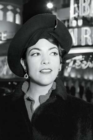 Caro Emerald black and white portrait