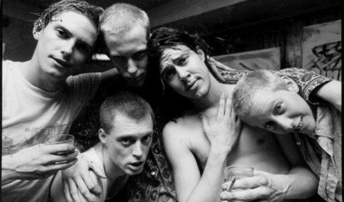 Butthole Surfers black and white group picture