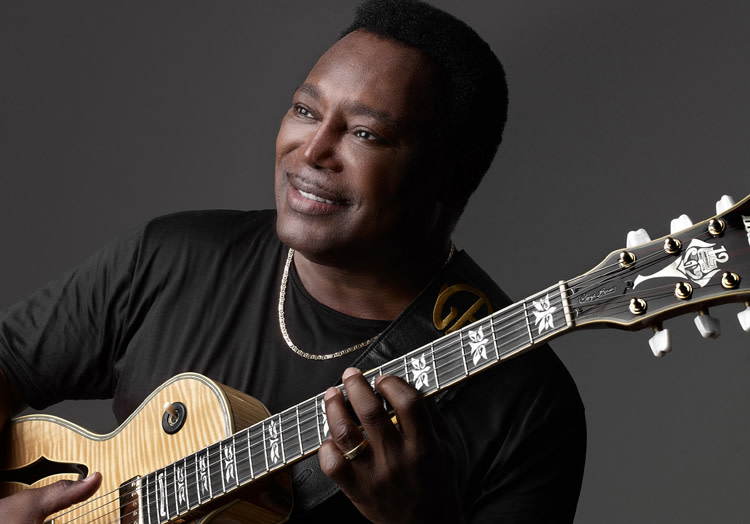George Benson portrait with guitar
