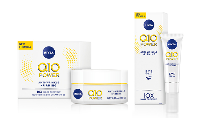 KCM kauneus lanseerausalue NIVEA-Q10-POWER-Day-&-Eye-Cream