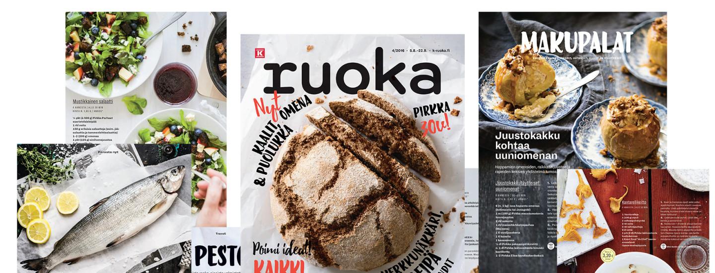 K-Ruoka 4/2016 -lehden reseptit