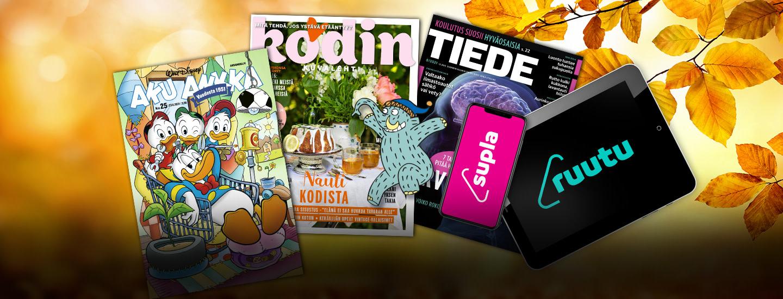 Mammuttimaisia lehtitarjouksia sekä Ruutu+ ja Supla+ -tilausetu