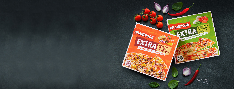 Mehevän maistuvat uutuuspizzat: Grandiosa Extra!