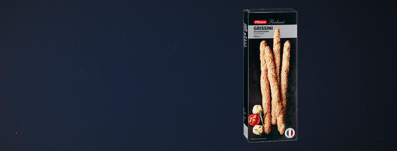 Takaisinveto: Pirkka Parhaat grissini seesaminsiemen 120 g (leipätikku)