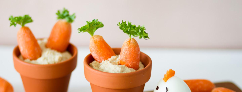Lasten pääsiäisvälipala: Pirteä porkkanapurkki ja suloinen munatipu