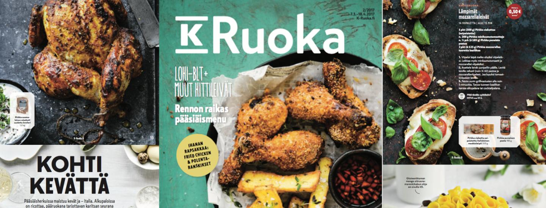 K-Ruoka 2/2017-lehden reseptit