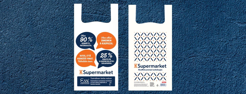 K-Supermarketit siirtyvät käyttämään vain kiertomuovikasseja